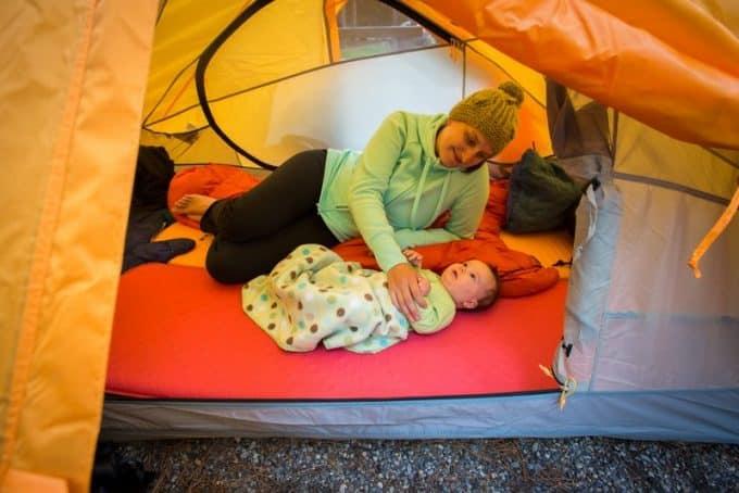 hiking sleeping with infants