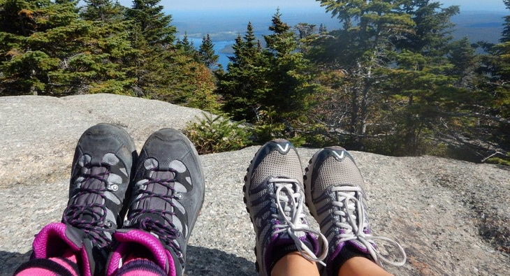Image showing two kids wearing hiking shoes