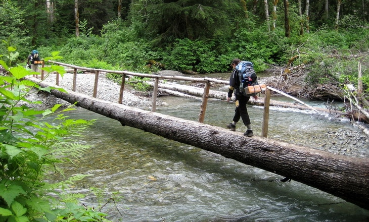 crossing a river with logs method