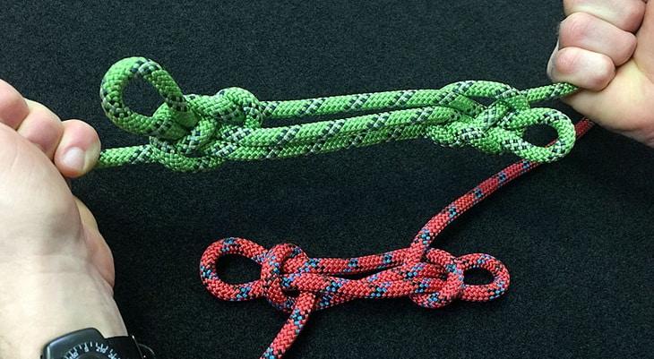 Sheepshank loop of two ropes