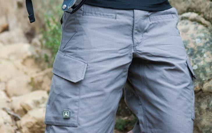 Men wearing hiking shorts