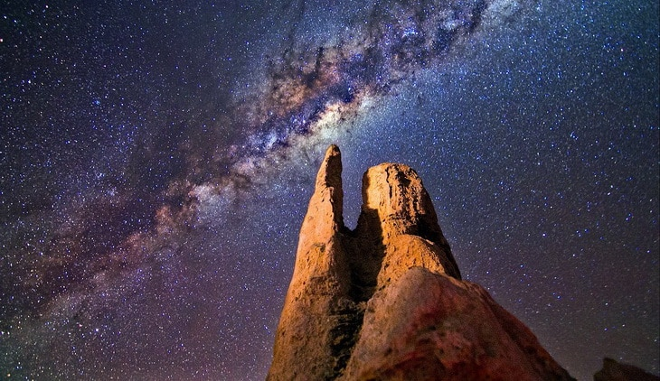 photo of milky-way at night