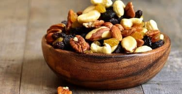 Health trail mix with dried-fruit and nuts