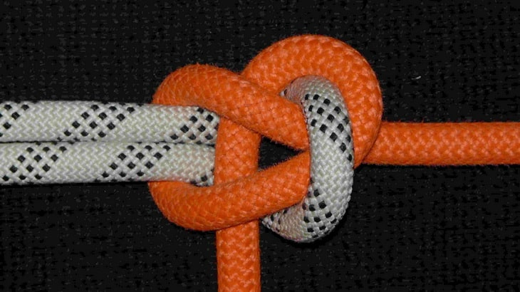 Becket hitch hammock knot image