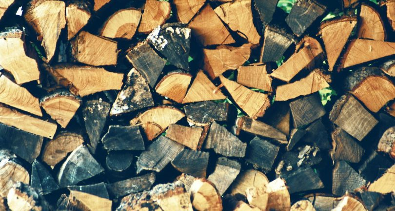 Piled Fire Wood