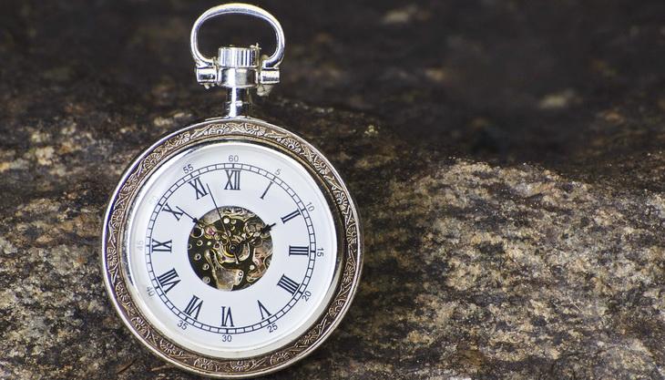 a close-up photo of a compass