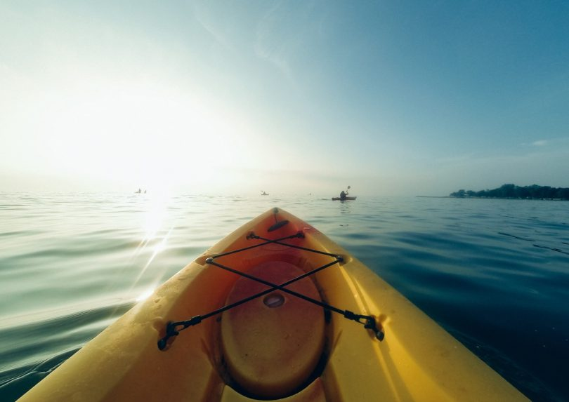 picture of a beautiful landscape taken from a kayak