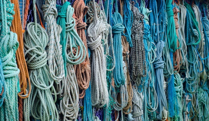 Bunch of Assorted Colored Woven Rope
