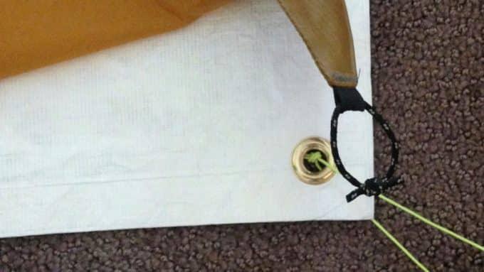plastic tent footprint
