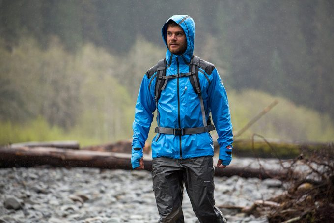 Image showing a man wearing a waterproof jacket