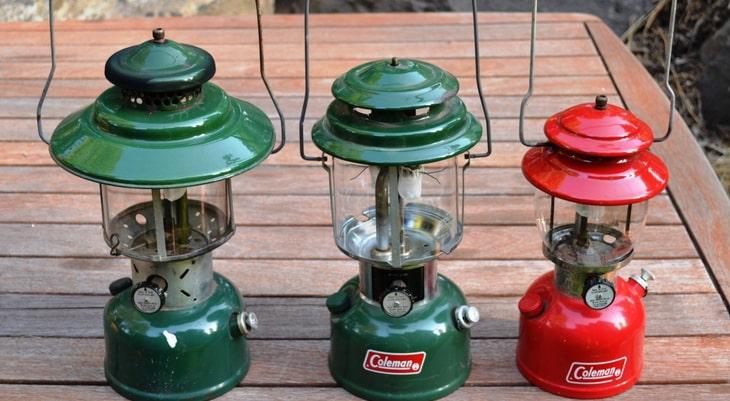 Three Coleman NorthStar Propane Lantern