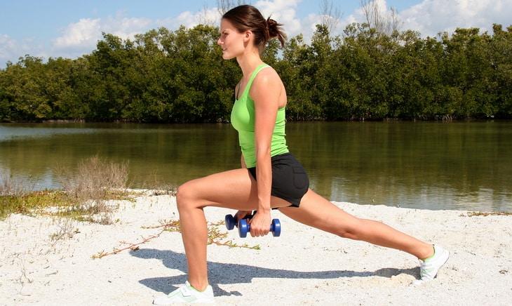 Woman doing hiking workout