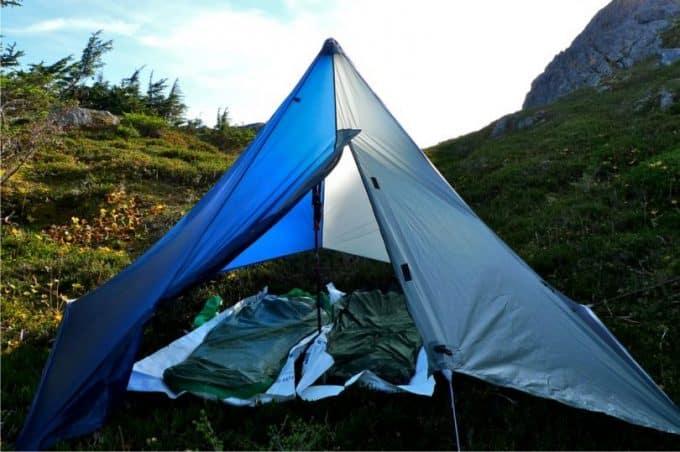 tarp-tent-for-hiking