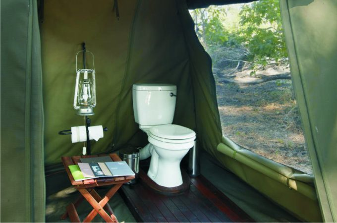 toilet in the tent