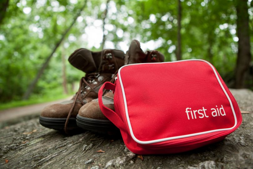 First Aid Kit and a Pair of Shoes