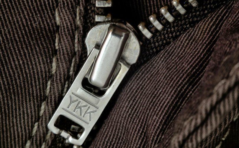 close-up photo of a zipper