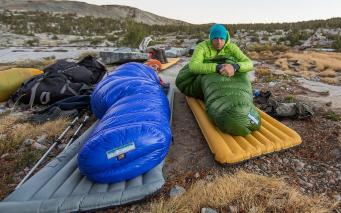 two man in sleeping bags