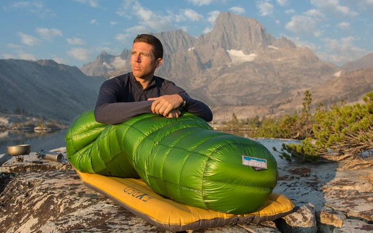 A man in a Puma Gore WS Sleeping Bag