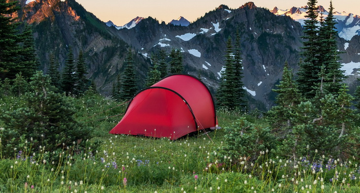 Hilleberg Anjan 2 Person Tent and mountains landscape