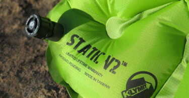 Close-up image of Klymit Static V2 Inflatable Sleeping Pad