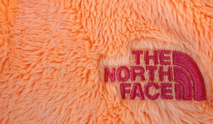 Close-up of the North Face fleece jacket