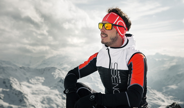 Man wearing an insulated jacket