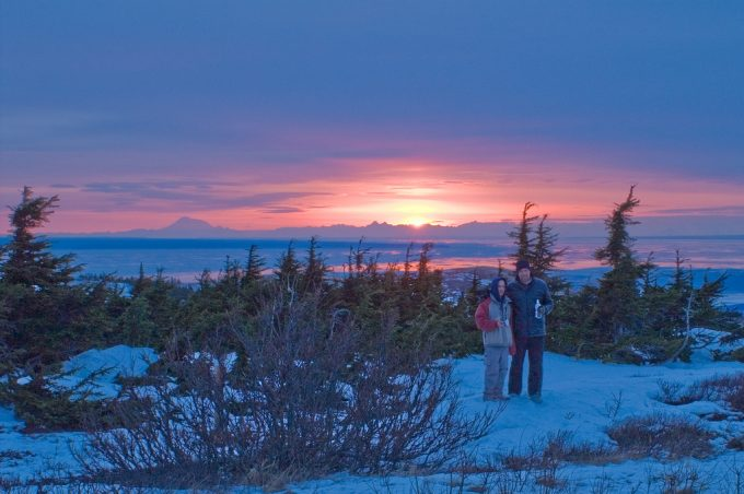 Sunset from Flattop Mountain