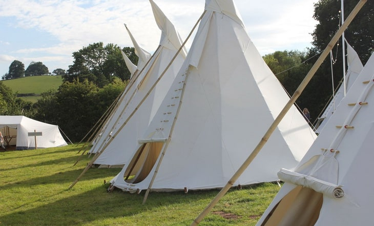 6 Tipi tents at one place
