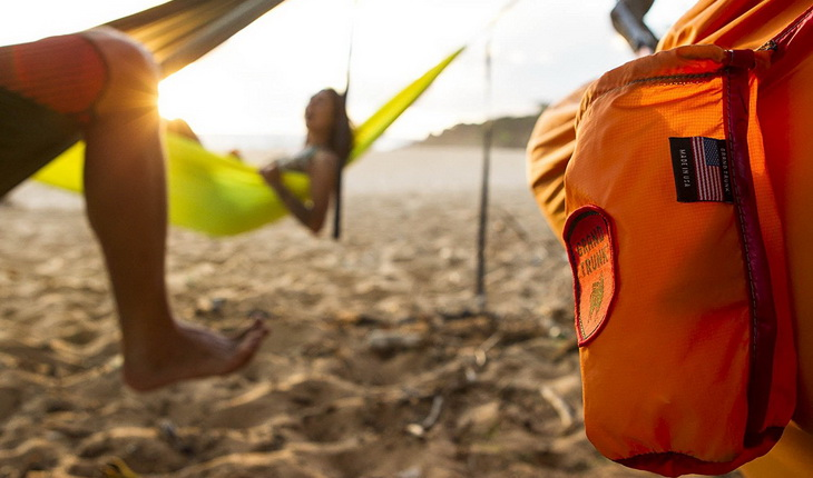 Close-up of Grand Trunk Double Trunktech Hammock pocket