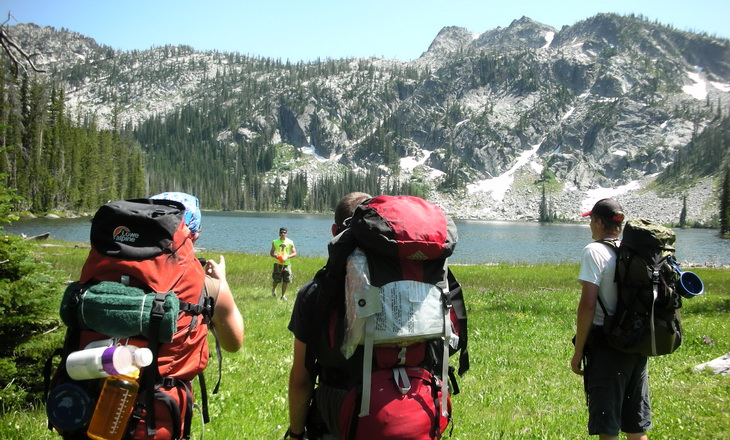 Backpacking Idaho with the group