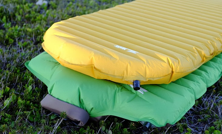 Backpacking Sleeping Pads on the Grass