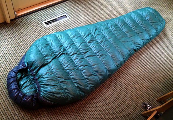 Badger MF sleeping pad on floor