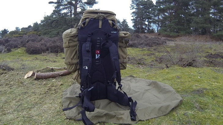 Bergen External Pack Frame Mod outside in the forest