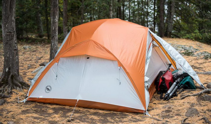 Big Agnes Copper Spur UL3 set up in the forest