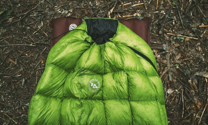 Big Agnes Pitchpine on a sleeping pad