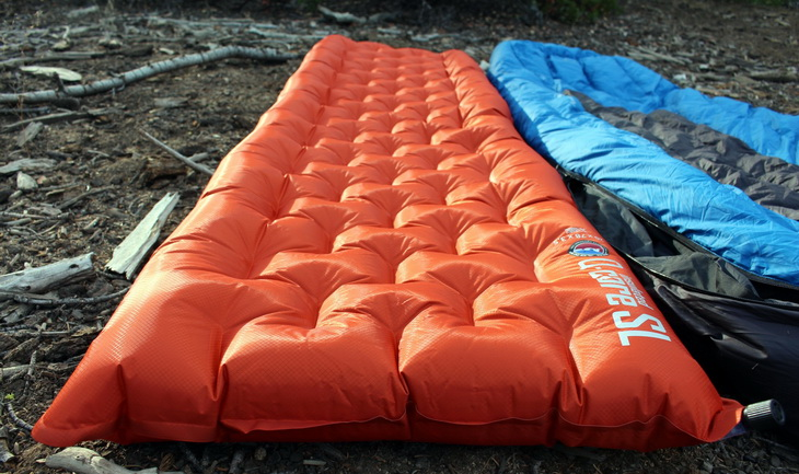Big Agnes Q-Core sleeping pad in the garden on the ground