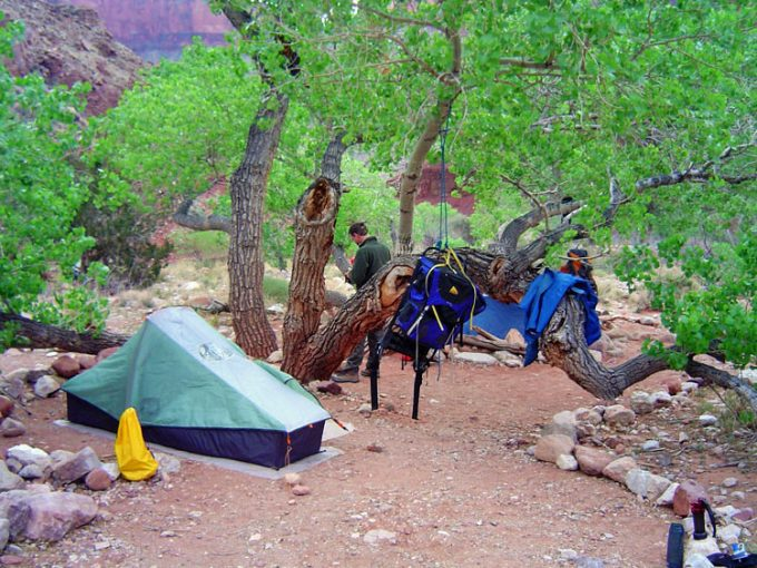 camping at Clear Creek Campsite