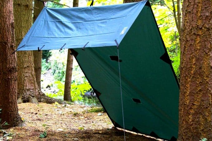 Fold over wind shed tarp