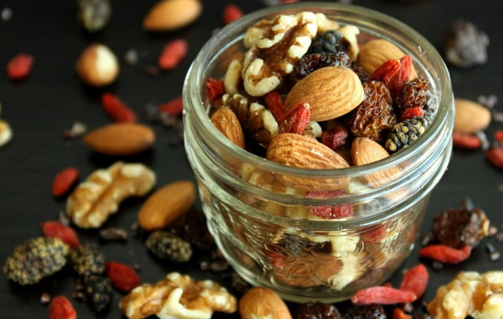Fruit, nut and seed trail mix