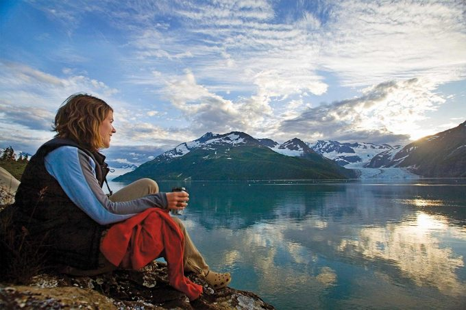 Girl In Kenai Fjords Wilderness