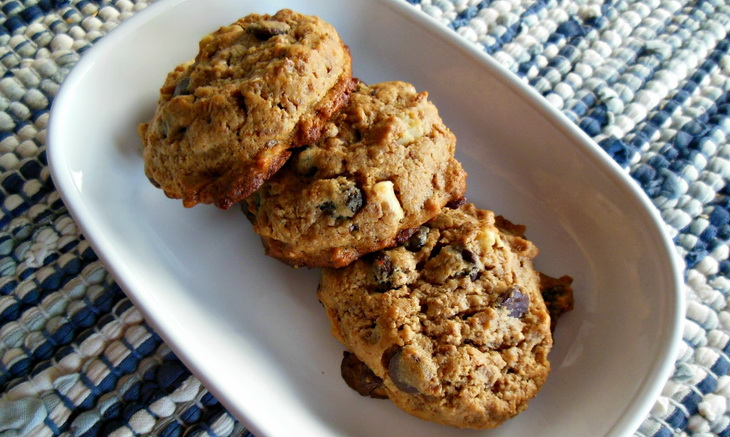 Good Old Raisin and Peanuts Honey Cookies.