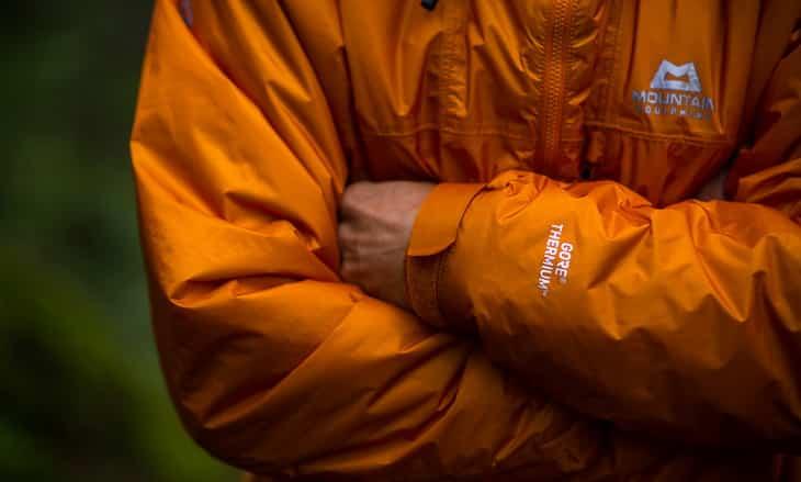 Man wearing Mountain Gore Thermium jacket
