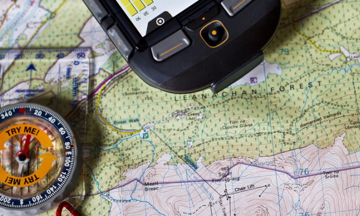 Handheld GPS vs Compass and Map