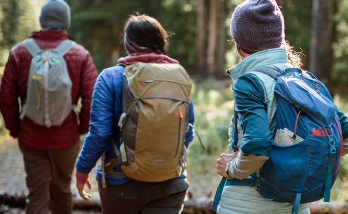 Hikers start adventure