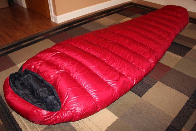 summerlite sleeping bag on floor