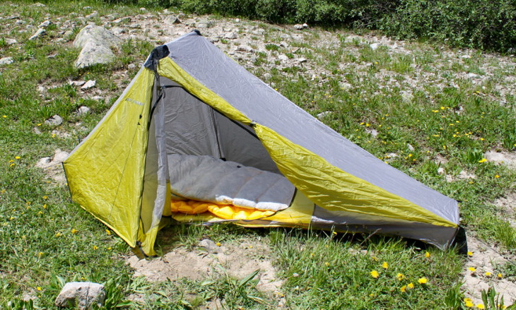 Sea to Summit Spark SP III Sleeping Bag in a tent on a mountain