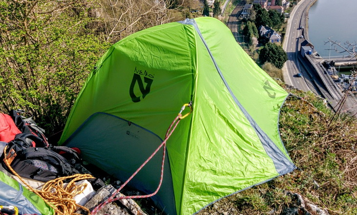 Nemo Hornet 2P Tent on top of the city