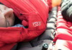 Man sleeping in Klymit KSB 20 Sleeping Bag