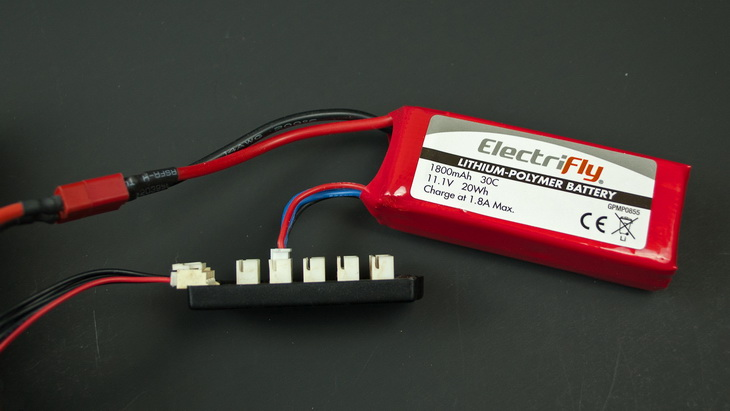 LIPO BATTERIE ON THE TABLE
