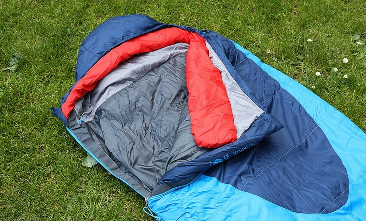 Kelty Cosmic 20 Degree Sleeping Bag on the grass